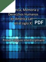 """""""Violencia, Memoria y Derechos Humanos en América Latina en el siglo XX"""""""