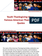 Youth Thanksgiving Ideas - Famous American Thanksgiving Quotes