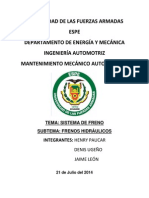 Informe 3 Parcial de Sistemas de Frenos