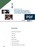 Presentación de Resultados ENDES 2013