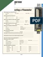 Flowmeter Selection Form