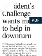 President's Challenge gets S$50,000 from SICCI, 4 Mar 2009, Straits Times