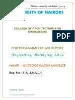 Photogrammetry Labs Final