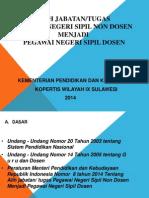 Permendikbud No. 8 Thn 2014 Alih Tugas menjadi Dosen.ppt