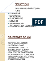 Integrated Approach of Material Management