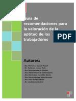 Guía de recomendaciones para la valoración  de la aptitud de los trabaja....pdf