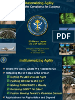 BG Legere - 16Dec09 - Institutionalizing Agility Keeping Intelligence in the Fight