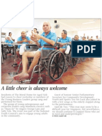 A little cheer is always welcome, 3 Mar 2009, Straits Times
