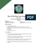 UT Dallas Syllabus for rhet1101.034.08f taught by   (pkj010100)