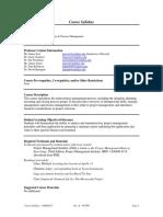 UT Dallas Syllabus for opre6271.pjm.08f taught by James Szot (jxs011100)