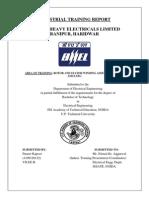 Bhel - Training Report Punnet