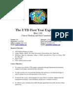 UT Dallas Syllabus for rhet1101.033.08f taught by Leah Nall (lnall)
