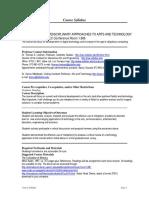 UT Dallas Syllabus for atec5349.501.08f taught by Thomas Linehan (tel018000)