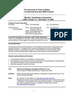 UT Dallas Syllabus for opre6301.mim.08f taught by Kurt Beron (kberon)
