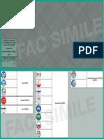 Scheda elettorale Calabria - fac simile