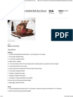 Bacon and Spinach-Stuffed Rib-Eye Roast Recipe