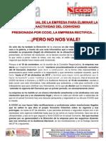 1950593-Presionada Por CCOO, La Empresa Rectifica Pero No Nos Vale