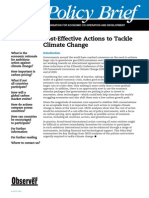 Cost-Effective Actions to Tackle Climate Change