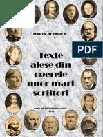 Texte alese din operele unor mari scriitori