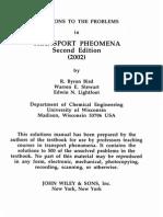 Transport Phenomena - Bird R.B. - Solution