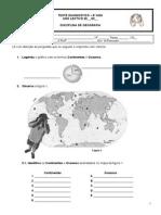 Teste Diagnóstico - Geografia - 8º Ano
