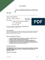 UT Dallas Syllabus for ed4353.501.08f taught by Nancy Van (ncv013000)