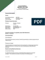 UT Dallas Syllabus for aim6352.p0d.08f taught by Kenneth Bressler (bressler)