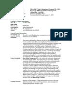 UT Dallas Syllabus for mis6204.pi1.08f taught by Hans-joachim Adler (hxa026000)