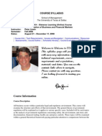 UT Dallas Syllabus for fin6308.0g1.08f taught by Peter Lewin (plewin)