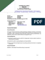UT Dallas Syllabus for aim6334.0g1.08f taught by Tiffany Bortz (tabortz)