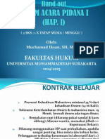 Hukum Acara Pidana i (2014)