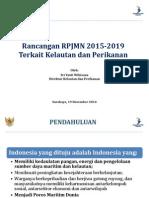 Rancangan RPJM 2015-2019 terkait Kelautan Perikanan