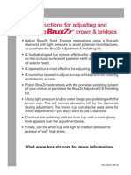 BruxZir Adjusting Polishing Instructions