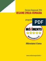 Il programma elettorale del M5s per le Regionali 2014