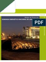 Modelo de Proyección de Demanda Energética Nacional de Largo Plazo