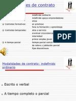 Diapositiva y Audio. Tema 2. El Contrato de Trabajo. Modalidades