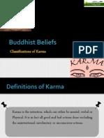 Buddhist Beliefs- Classifications of Karma