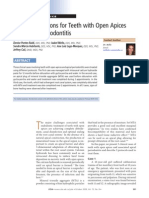 Jurnal Treatment Options for Teeth With Open Apices and Apical Periodontitis