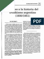 Julio N. Magri, Apuntes a La Historia Del Trotskismo Argentino (4 Artículos)
