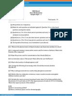 CBSE 12 Chemistry SamplePaper