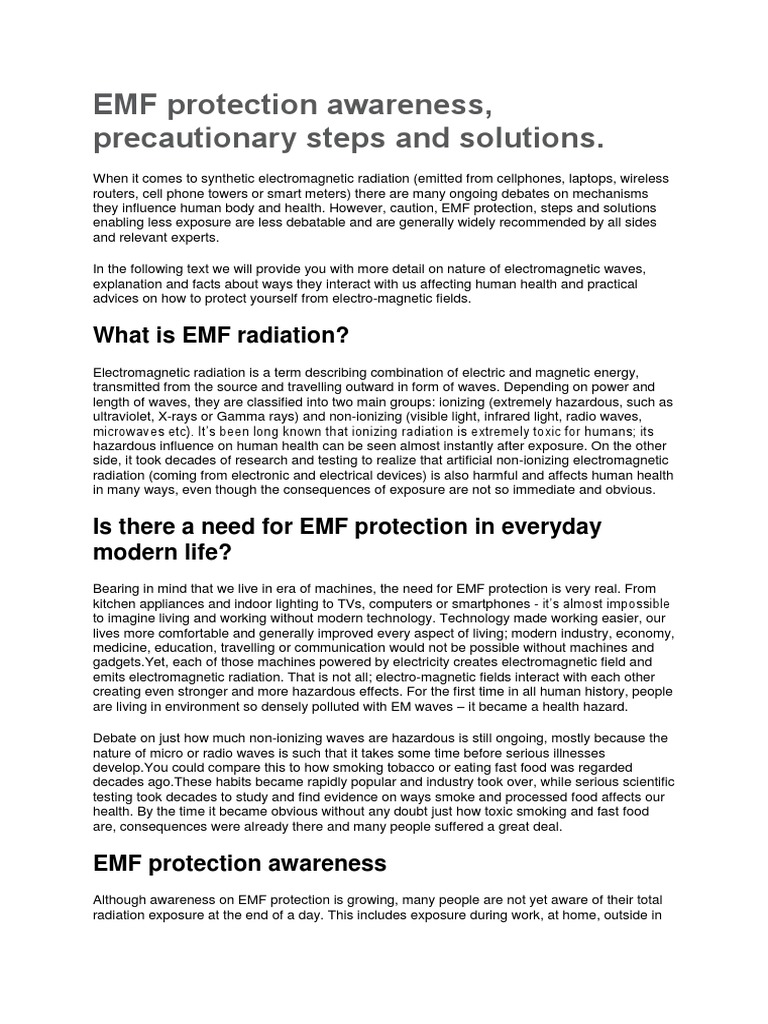 EMF Protection Awareness | Electromagnetic Field | Electromagnetic ...