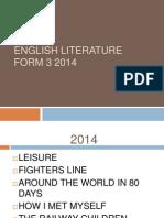 English Literature Form 3 2014