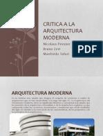 Critica a La Arquitectura Moderna