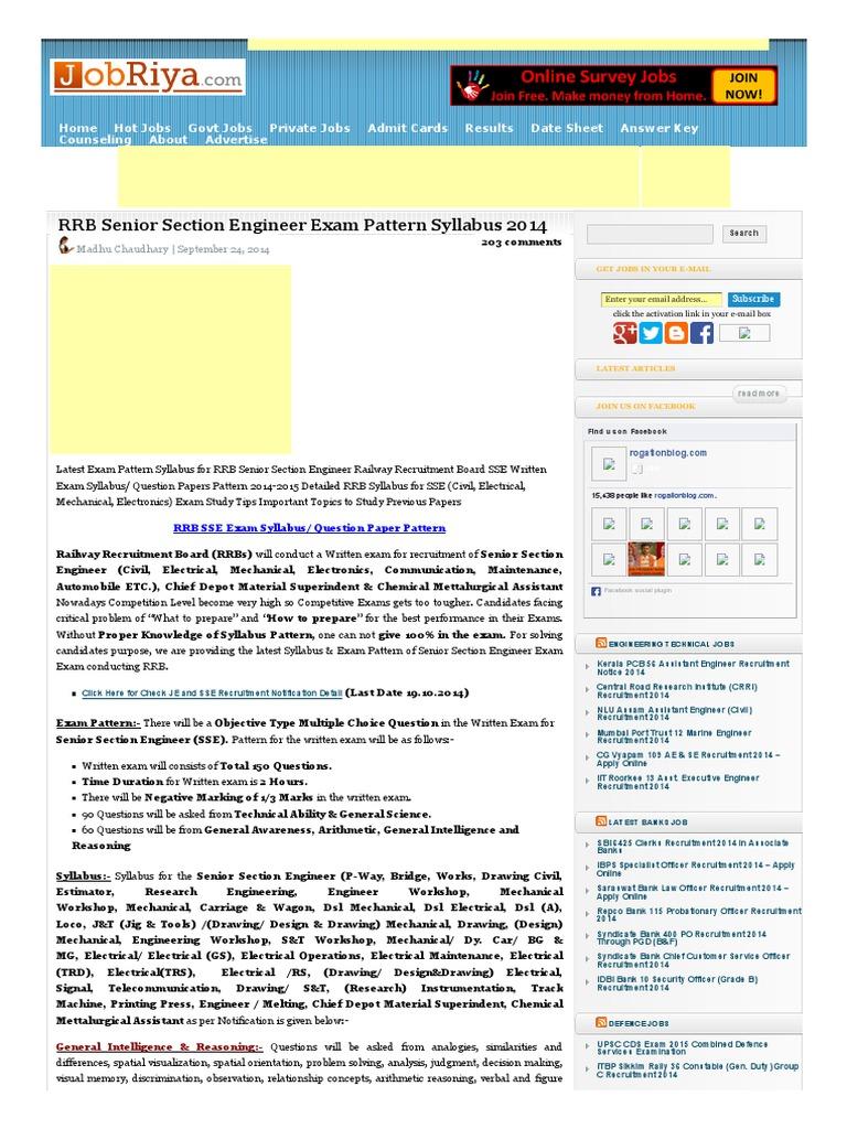 Engineer rrb senior pdf section mechanical syllabus