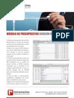 Ficha Notrasnoches Módulo Presupuestos