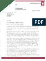 Osman Response re Council Meeting 22/10/14