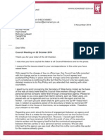 Osman Response re Council Meeting 22/10/14