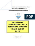 Bases Para Festival Musical 2014