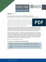 Managing Change Toolkit