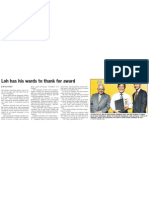 Loh has his wards to thank for award, 27 Feb 2009, Straits Times